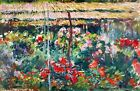 Peony Garden by Claude Monet Giclee Museum Size Repro on Canvas