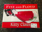 NEW Fitz and Floyd Christmas  KITTY CLAUS Tidbit Snack Candy Dish Cat Holiday