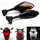 Back & Front LED Turn Signal Integrated Smoke Mirrors For Honda CBR 600 1000 RR