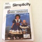 7605 Daisy Kingdom Simplicity Pattern Size AA (Sailor) Not Used Stain On Pkg