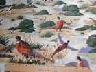 Wild Life Novelty Fabric Pheasant Hollow Scenic Pheasants Bird Dogs Hunting BTY