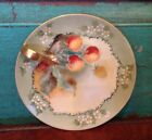 Antique Hand Painted Strawberry Porcelain Handled Nappy, Candy Dish, Carpenter