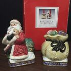 Omnibus Fitz & Floyd Renaissance Santa Pair Christmas Taper Candle Holders