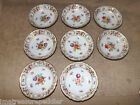 Schumann Germany Empress Dresden Flowers 8 Fruit Sauce Dessert Bowls 5 1/4