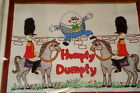 Vintage HUMPTY DUMPTY Crewel Embroidery Kit Nursery Rhyme WONDERART 1970s?