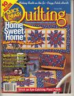 QUICK AND EASY QUILTING FEBRUARY 1996 SNOWMAN AND HEART TABLE RUNNER SET COVER