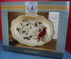 NIB Paula Deen Home For The Holidays Large Oval Platter Red Bird 18