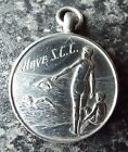 VINTAGE 1947 HOVE SEA CADET CORPS STERLING SILVER FOB MEDAL