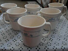 6 Corelle Corning 3 1/2 INCH MUGS FIRST OF SPRING PATTERN BLUE WHITE FLOWERS