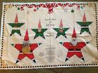 Santa star and elf star ornament fabric panels from 1996