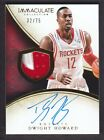 2013-14 Immaculate Collection 200 Dwight Howard 32 75 Auto Patch Houston Rockets