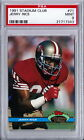 1991 STADIUM CLUB JERRY RICE PSA MINT 9, HUGE CONTRIBUTION IN THE 4 SUPER BOWLS!