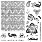 Henna Petals Background and Flowers Clear Acrylic Stamp Set by Fiskars NEW