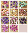 20 50pcs Resin Rose Flower flatback Appliques For phone wedding crafts MIX