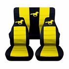 2008-2010 Ford Mustang Convertible Horse Seat Covers Separate Headrest Covers