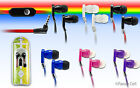 35mm Stereo In Ear Earbud Earphone Headset Flat Cord Cable For Samsung Phone