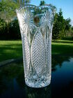 VINTAGE RCR HOB NAIL AND STAR GLASS 975 CUT GLASS VASE FROM ITALY