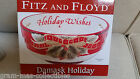 FITZ AND FLOYD SENTIMENT DAMASK HOLIDAY BOWL HOLIDAY WISHES NEW IN BOX