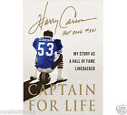 CAPTION FOR LIFE Hard Cover Book By Harry Carson 318 Pages NEW