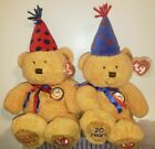 Ty Beanie Buddies Set of 2 ~ FUN & LAUGHTER Plush Bears (14.5 Inch) MWMT'S