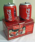 COCA COLA Ceramic Soda Can Salt & Pepper Shakers Set by Gibson USA 2002 NIB