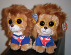 Ty Beanie Boos Set ~ HERO the Lion (Solid & Glitter Eyes)(UK Exclusives) MWMT'S