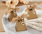 6 Country Charm Cowbell Kissing Bells Rustic Themed Wedding Favors