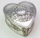 Antique Durgin Empire Sterling Silver Heart Shaped Valentines Day Jewelry Box