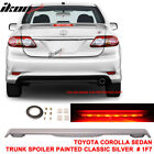 09 13 Toyota Corolla 4D Trunk Spoiler Painted Classic Silver  1F7 LED Light