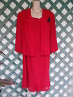 DANNY  NICOLE RED TOP  DRESS 18 NEW CAREER PARTY WEDDING CHURCH