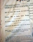 RMS LUSITANIA Sinking Torpedo Sub Attack WWI War Tensions 1915 Old Newspaper