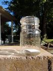 Clear Pint Foster Sealfast Canning Fruit Mason Jar Heavy Crude Bubbly Glass