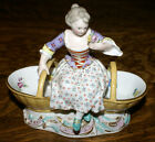 19th Century Meissen Porcelain Woman Sweetmeat Dish * Figurine #3024 Germany
