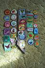 Vintage lot of Girl Scout Patches  Sash 1983 1989