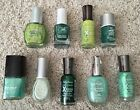 Lot of 9: NEW Sally Hansen Maybelline CQ Julie Color Fever Nail Polish in GREEN