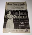 HOME CANNING GUIDE-HEALTH FOR VICTORY-WWII-WESTINGHOUSE-1943 BOOKLET