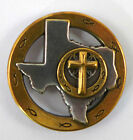 State of Texas Cross and Jesus Fish Symbol Spiritual Concho