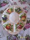 ITALY HAND PAINTED PLATTER DIVIDED SERVING TRAY