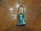 ANTIQUE MERCURY GLASS CHRISTMAS WIRE WRAPPED BELL ORNAMENT GERMANY