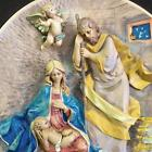 King Born Vtg 86 Fontanini First Annual Signed LE Christmas Plate COA Bas Relief