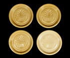 4 VINTAGE PIGEON FORGE TENNESSEE SOUTHERN POTTERY COASTERS WHEAT DESIGN YELLOW