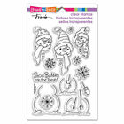 Build a Snowman Christmas Clear Acrylic Stamp Set by Stampendous SSC1184 NEW