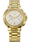 New Exotic Ladies Elysee E28408 Phoibe Chronograph Yellow Gold Plated Watch