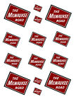 SHEET OF MILWAUKEE ROAD STICKERS 85 X 11 S scale