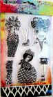 Black Diamonds Dylusions Clear Acrylic Stamp  Stencil Set DYZ48336 NEW