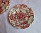 Johnson Bros Red English Chippendale Bread Plates set of 6