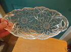 Retro Indiana Glass Lily Pons Clear Glass Pickle Dish