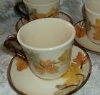 3 Sets OCTOBER Cups & Saucers Franciscan USA 7 pc total with extra saucer