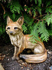 8 INCH FOX SITTING FIGURINE resin animal Statue COUNTRYSIDE SMART SLY RED NEW