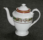 SPODE CHRISTMAS ROSE Y8560, ENGLAND, RARE COFFEE POT, LID REPAIRED